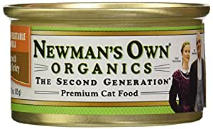 Newman's Own Organic Cat Food, Canned Turkey & Vegetable Formula, 3 oz