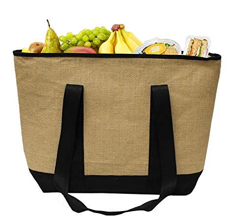 Earthwise Bolsa reutilizable o una canasta para hacer las compras - Un galón con cierre Beige