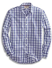 Men's Standard-Fit Long-Sleeve Checked Shirt