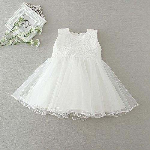 H/B bebé niña 2 piezas marfil bautizo bautismo tutú flor para vestidos de niña con capa 1520 marfil Talla:18-24 meses: Amazon.es: Bebé