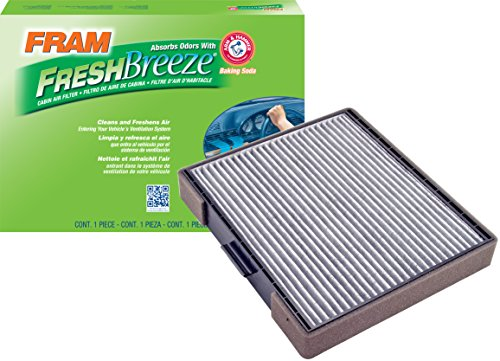 FRAM CF10558 Fresh Breeze Cabin Air Filter with Arm & Hammer