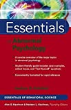 Essentials of Abnormal Psychology 9780471656234
