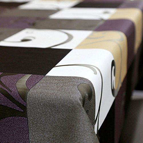 LEEVAN Heavy Weight Vinyl Square Table Cover Wipe Clean PVC Tablecloth Oil-proof/Waterproof Mildew-proof - 54 x 78 Inch (Stylish Plaid)