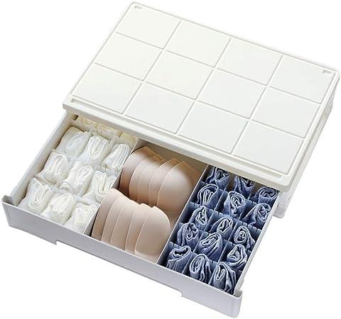 Caja de almacenamiento de la ropa interior Medio Ambiente PP Material Plástico Durable Translúcido Plástico Cuerpo Piso Cajón De Almacenamiento Calcetines Ropa Interior Caja De Almacenamiento Ropa int: Amazon.es: Hogar