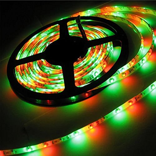 econoLED LED Flexible Strip Lights,Strip Lights, 16.4ft 300leds 5m Waterproof Adhesive Light Strips RGB Color Changing SMD 3528 Ribbon Kit with 44key Remote with Power Supply by econoLED (Image #3)