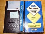 1992 Ford Aerostar Owners Manual