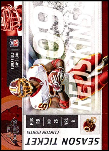 2009 Playoff Contenders Season Tickets #99 Clinton Portis NM-MT Washington Redskins Official NFL Football Card