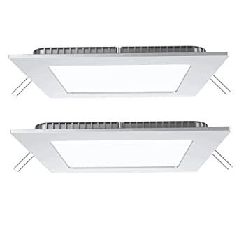 2er Set LED Panel Leuchten Wohn Raum Decken Tageslicht Lampen Alu ...