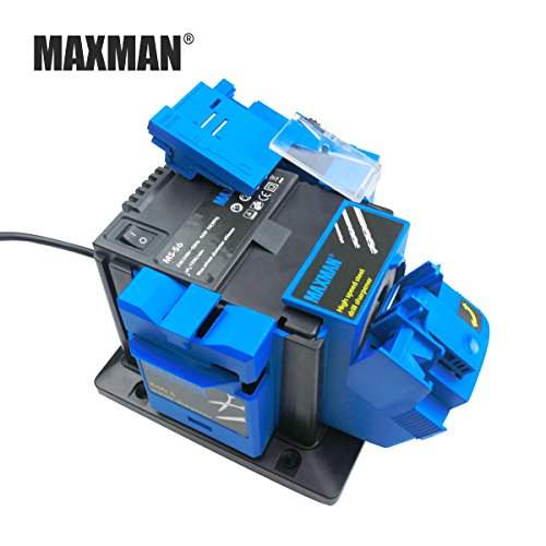 MAXMAN Professional Electric Knife & Scissors Sharpener Chisel & Plane & HSS Drill Sharpening Machine for Kitchen Knives Tool ()