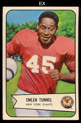 1954 Bowman Regular (Football) card#102-c Emlen Tunnel of the New York Giants Grade very - 1954 Cards Football