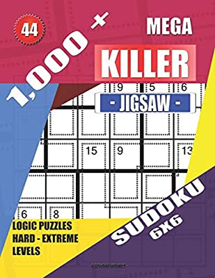 1, 000 + Mega jigsaw killer sudoku 6x6: Logic puzzles hard
