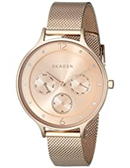 Skagen Women's Anita SKW2314 Rose Gold Stainless-Steel Quartz Watch