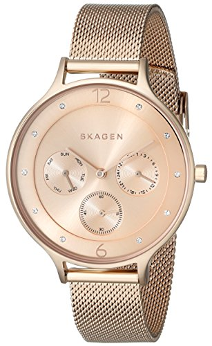 Skagen Women's SKW2314 Anita Rose Gold-Tone Stainless Steel Watch with Mesh Bracelet