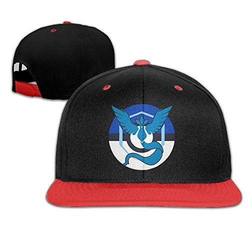 Price comparison product image Adhra Lucky Unisex Kids Pokemon Go Team Blue Mystic Articuno Hip Pop Baseball Caps Hats For Boys/Girls