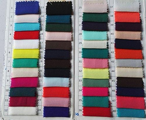 Drasawee Longues Robes De Bal Juniors En Mousseline De Soie Mince Perler Robes Formelles De Soirée Bleu