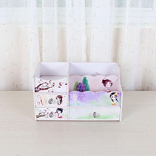 Doll Costume Diy (Environmental Protection Desktop Cosmetic Creative DIY Home Supplies Color Printing Waterproof Drawer Style Storage Box , costume dolls , 331918)
