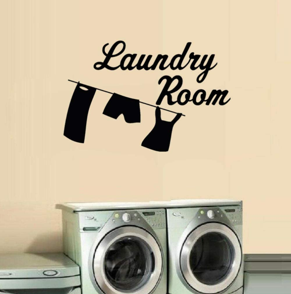 Wall Stickers 69cmx45 8cm Laundry Room Stickers Pvc Cartoon Clothes Pants Clothesline Wall Decor Wall Stickers Murals Amazon Canada