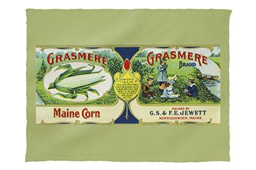 (Lantern Press Grasmere Corn Label 2070 (60x80 Poly Fleece Thick Plush Blanket))