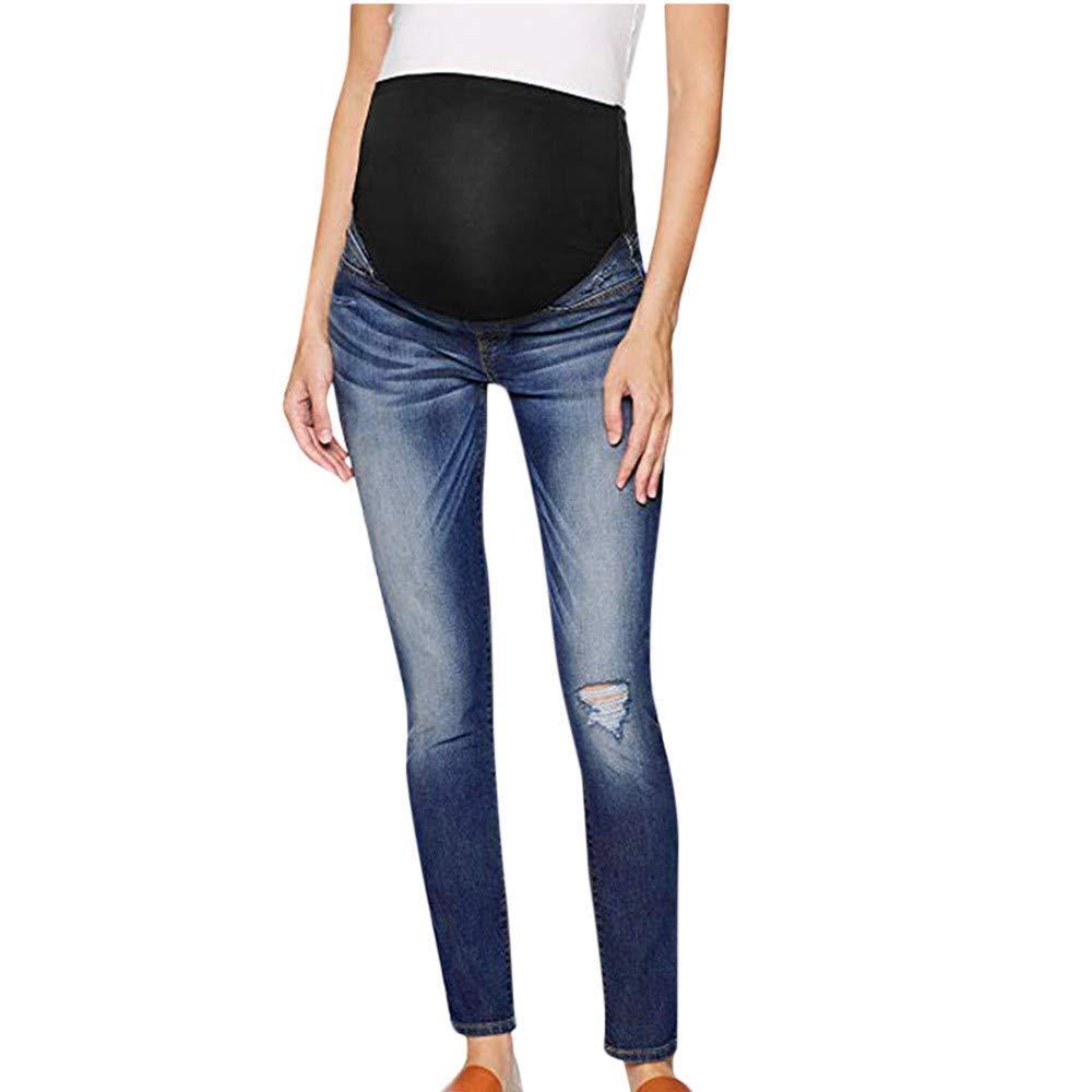 Pregnancy Pants with Bellyband Maternity Elegant Wear Slim Pants Fit Denim Maternity Jeans Maternity Maternity Leggings Comfortable Casual Pants Elastic Maternity Pants None