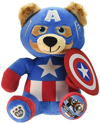 BUILD-A-BEAR WORKSHOP Mini Captain America Bear Doll Size 8 inch - Bear Teddy America