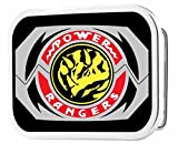 Power Rangers Live Action TV Series Triceratops Logo Rockstar Belt Buckle
