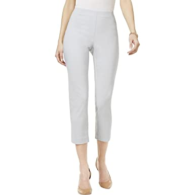 4ee6d4c260fdad Amazon.com: Style & Co. Pull-On Capri Pants (Misty Harbor, L): Clothing