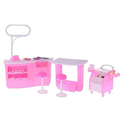 Amazon.es: Gazechimp Conjunto Muebles para Dollhouse de ...
