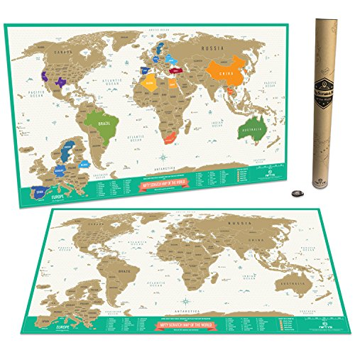 Nifty scratch map of the world scratch off world map travel tracker nifty scratch map of the world scratch off world map travel tracker map detailed usa and europe area and gift tube packaging buy online in kuwait gumiabroncs Image collections