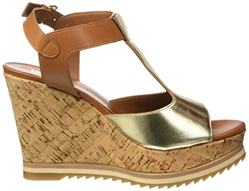 BPrivate E1005x, Women's Open Toe Sandals Beige - Beige (Cuoio + Oro)