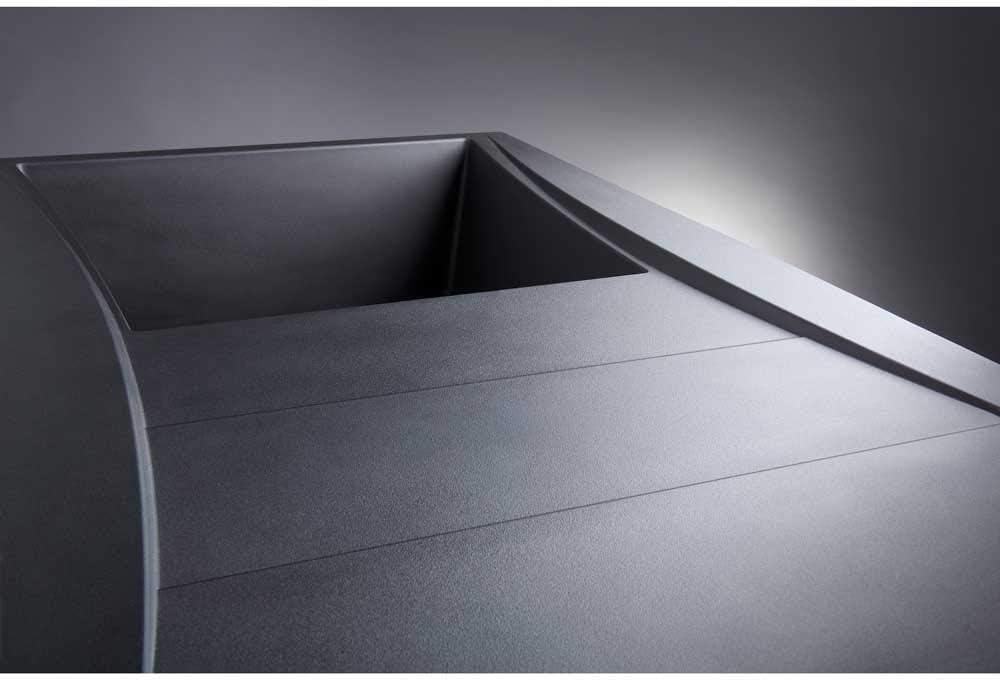 Astini Xeron 1.0 Bowl Black SMC Synthetic Reversible Kitchen Sink /& Waste