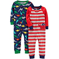 Baby Boys' 2-Pack Cotton Footless Pajamas