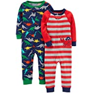Carter's Baby Boys' 2-Pack Cotton Footless Pajamas
