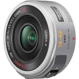 PANASONIC LUMIX G X Vario Power Zoom Lens, 14-42mm, F3.5-5.6 ASPH., Mirrorless Micro Four Thirds, POWER Optical I.S., H-PS14042S (SILVER)