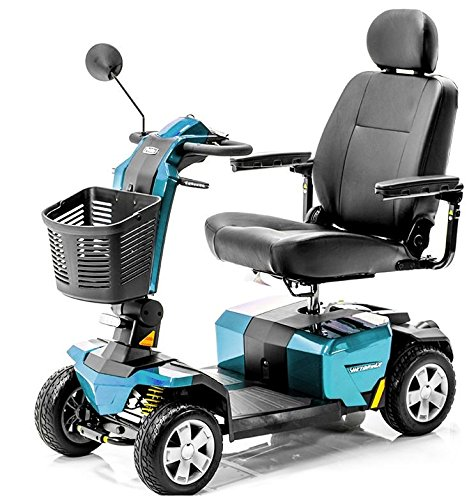 VICTORY 10 LX with CTS Suspension S710LX 4-wheel BLUE Color + Challenger Mobility Accessories - Bundle