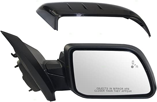 Passengers Power Side View Mirror Heated Memory Puddle Lamp Signal w//Blind Spot Detection Replacement for 11-14 Ford Edge CT4Z17682EAPTM