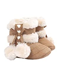 Bessky® Cute Infant Girls Baby Warm Winter Boots Crib Prewalker Shoes Toddler Shoes