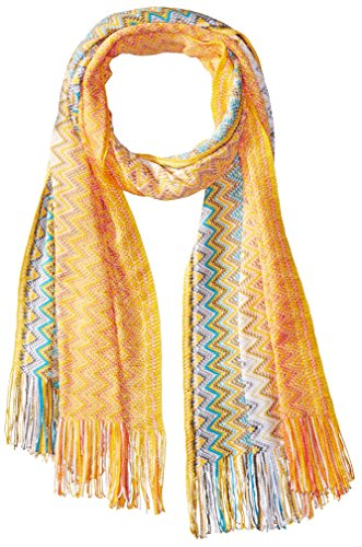 MISSONI Women's Zig Zag Scarf, Yellow by Missoni