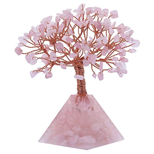 z Crystals Money Tree Feng Shui Tree with Pyramid Crystal Base Decoration for Wealth and Luck ()