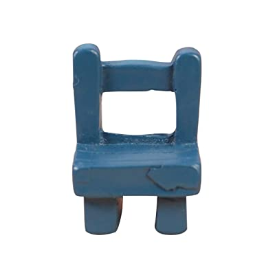 HEALLILY Dollhouse Miniature Chair Mini Resin Chair Dollhouse Furniture Accessories Decorations: Home & Kitchen