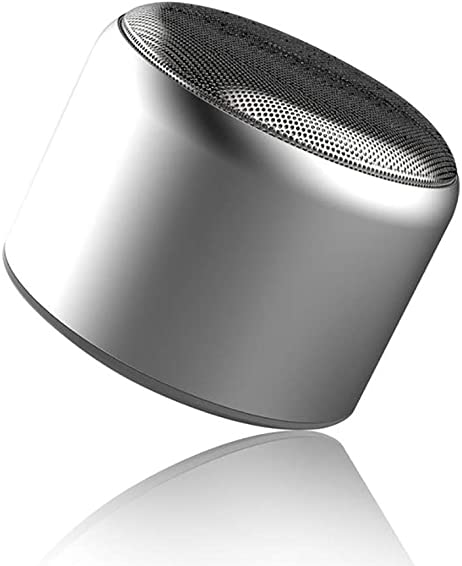 Mini Bluetooth Speaker, Luhuanx Portable Wireless Bluetooth 4.1 Touch Speakers with 5W HD Sound and Shock Sound, Phone Call Speaker,Handsfree, 4H Playtime for Phone, Tablet, TV, Gift Ideas Silver
