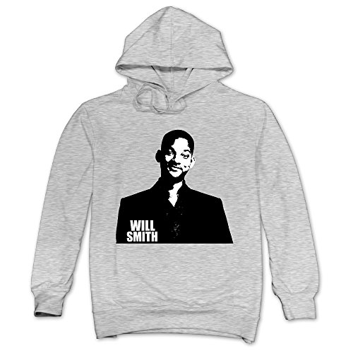 [JXMD Men's Will Smith Hoodie Ash Size XL] (Caitlyn Jenner Costume)