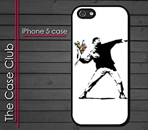 Case For Ipod Touch 4 Cover Hard Silicone CaBanksy Throwing Flowers Street Art L.A. Los Angeles