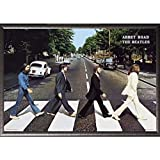 Framed The Beatles- Abbey Road 24x36 Poster in Silver finish Wood Frame