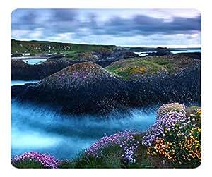 Decorative Mouse Pad Art Print Landscape and Plants Rocky Shore 3