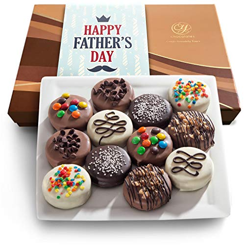 - Cy Chocolates Father's Day Deluxe Chocolate Dipped Oreos Gift Box, 12 Pc