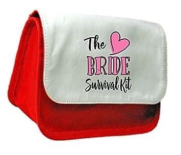 La Novia Kit de supervivencia para boda fiesta de compromiso regalo embrague bolsa o estuche, color rosso talla única: Amazon.es: Oficina y papelería