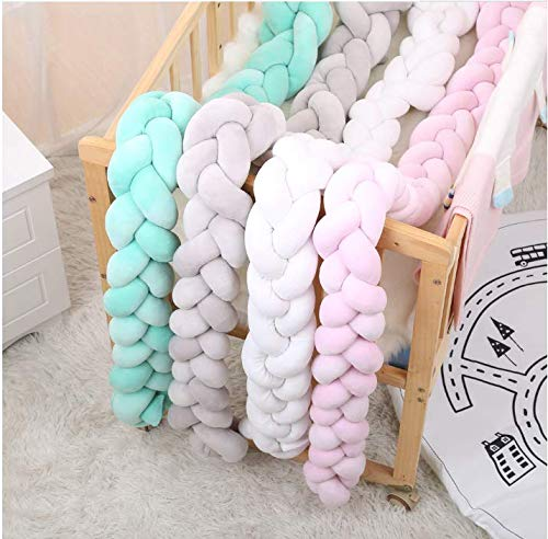 Ins Woven Long Knot Cushion Children Cotton Pillow Creative Nordic Simple Children's Room Bed Decoration (White, 3m) by Sportskindom (Image #7)