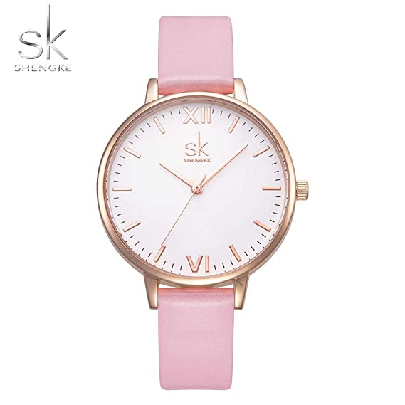 Grass 135 shengke top Brand Fashion Ladies Watches Leather Female Quartz Watch Women Thin Casual Strap