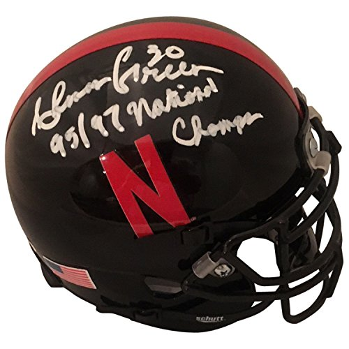 Ahman Green Autographed Nebraska Cornhuskers Signed Black Football Mini Helmet CHAMPS JSA COA