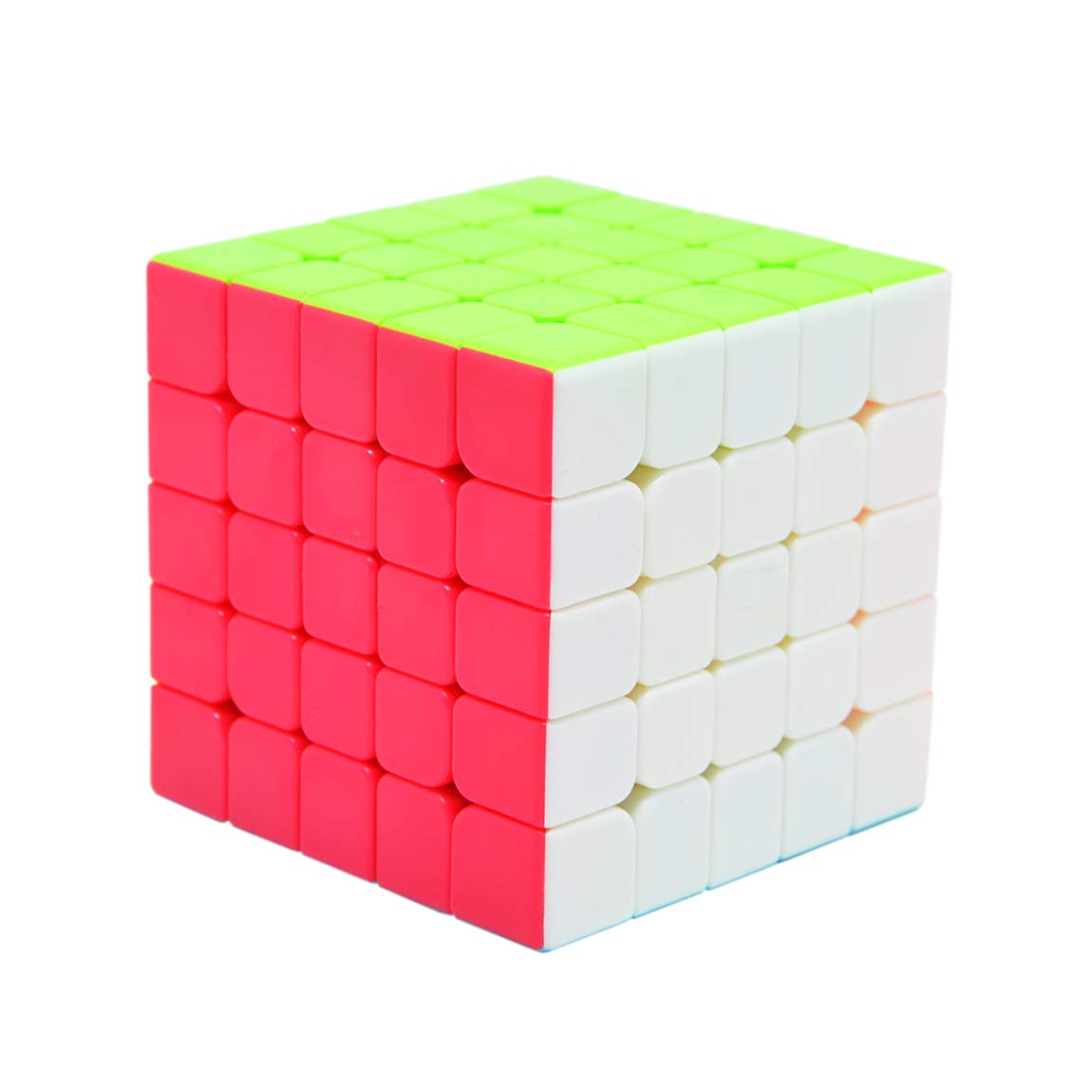 62mm 5x5 Velocidad Suave F/ácil de Girar Puzzle Cubo M/ágico para Entrenamiento Mental Dilwe Cubo de Velocidad